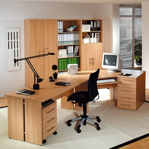 Modern Solid Wood Home Office Furniture Small Space Wood Office Home Furniture