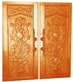Wood Design Main Doors Single