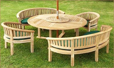 Charmant Circular Teak Wood Garden Furniture