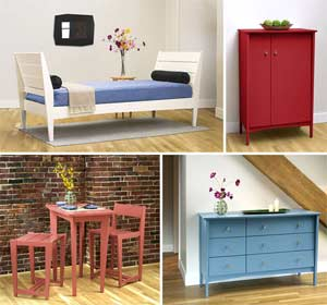 Contemporary painted furniture