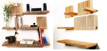 Folding Wooden Bookcase