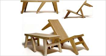 Folding Wooden Bench