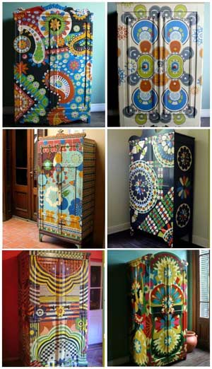 Painted wooden furniture few ideas painted wooden for Painting designs on wood furniture