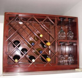 Traditional Wooden Wine Rack