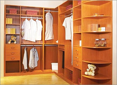 Open Solid Wood Wardrobe