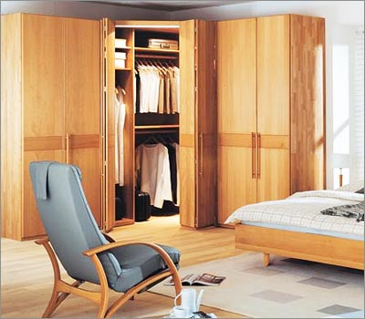 Simple Solid Wood Wardrobe