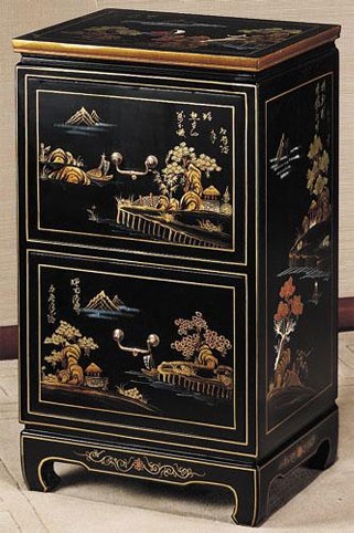 Black Wood File Cabinet