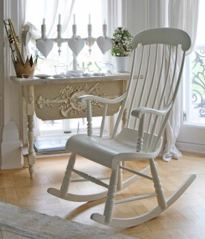 Perfect Wooden Rocking Chair. Indoor Wooden Rocking Chait